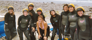 Happy smiles at NW women's surf camp