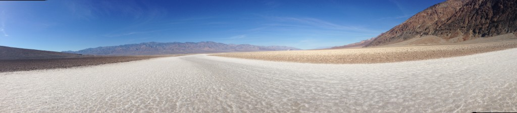The glittering salt flats of my childhood near Badwater Basin.